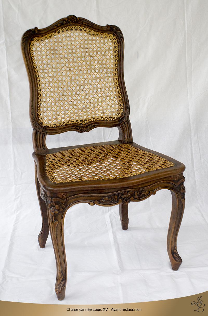 01-Chaise cannée Louis XV estampillée