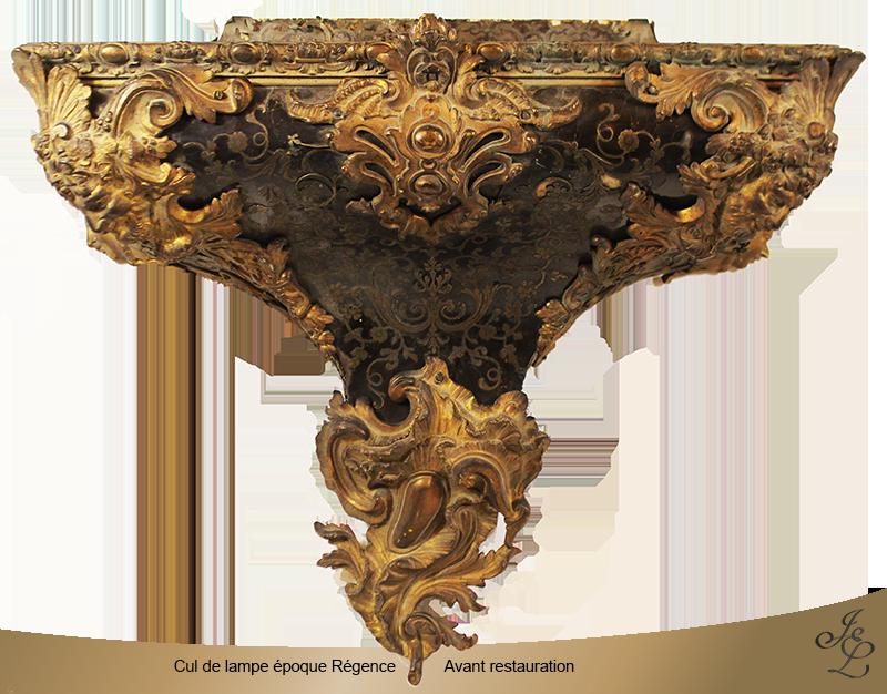 01-Cul de lampe époque Régence - Avant restauration