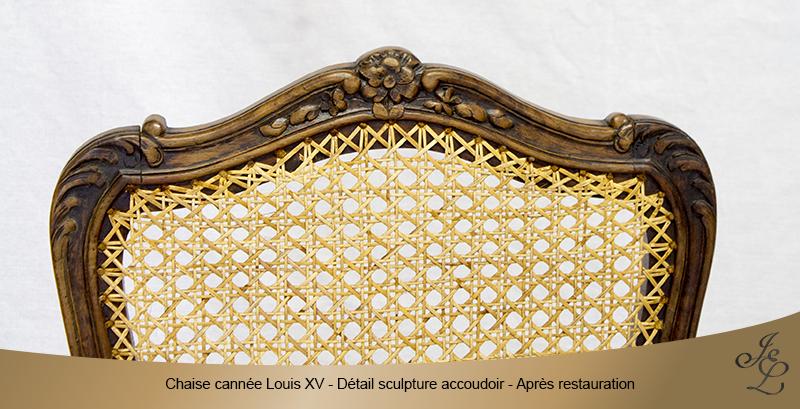 08-Chaise cannée Louis XV détail sculpture dossier