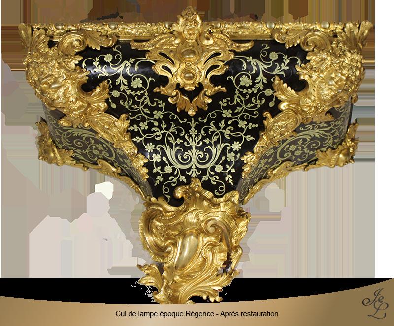 14-Cul de lampe époque Régence - Après restauration