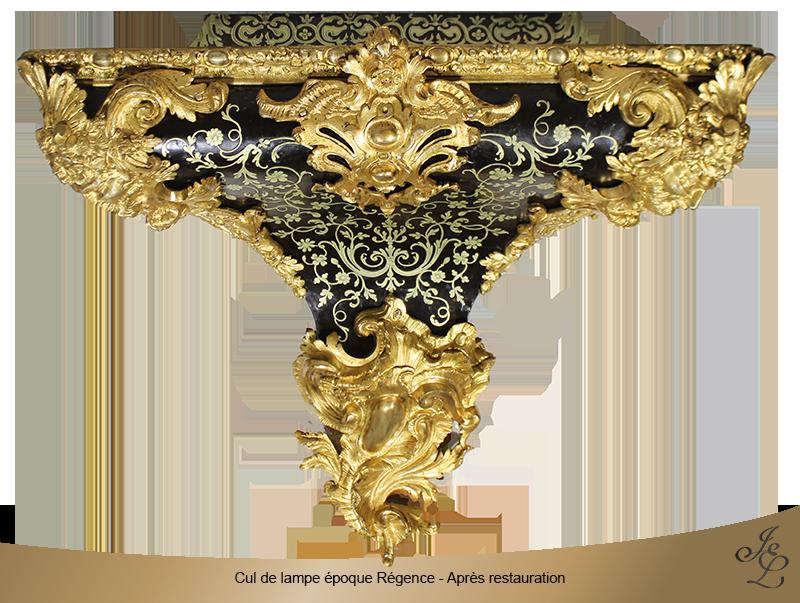 15-Cul de lampe époque Régence - Vue de face - Après restauration