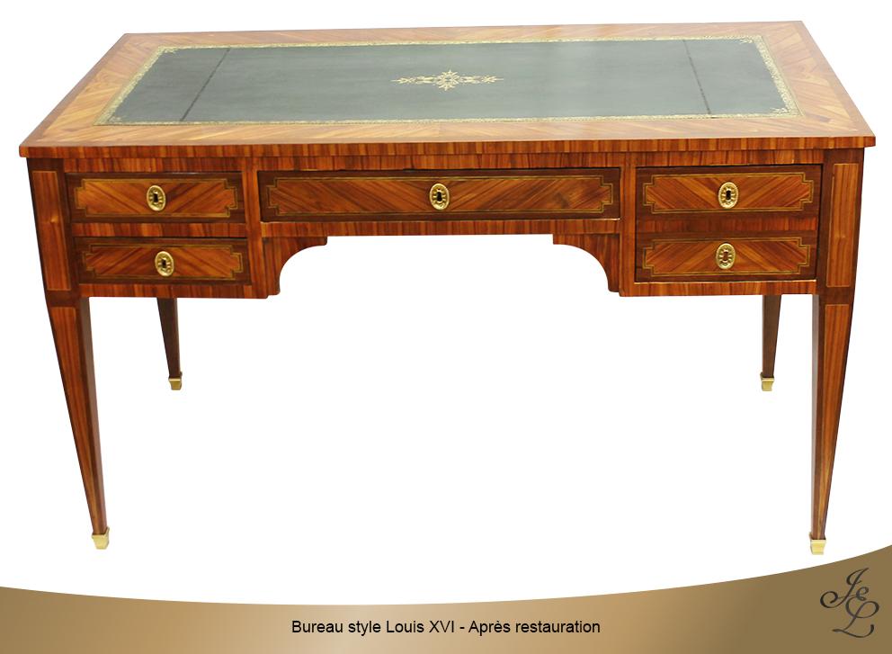 Bureau style Louis XVI - Après restauration
