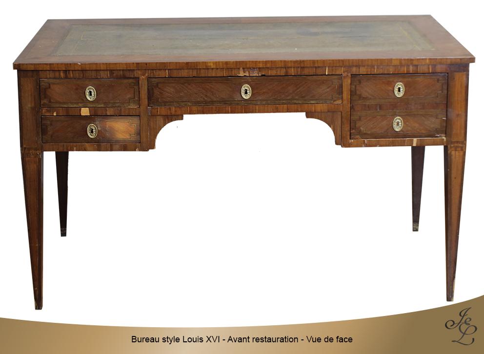 Bureau style Louis XVI - Avant restauration