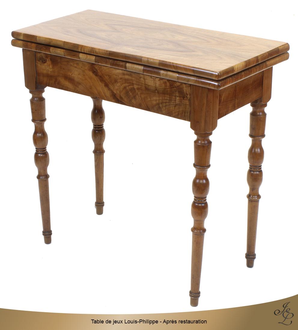 Table de jeux Louis-Philippe - Après restauration