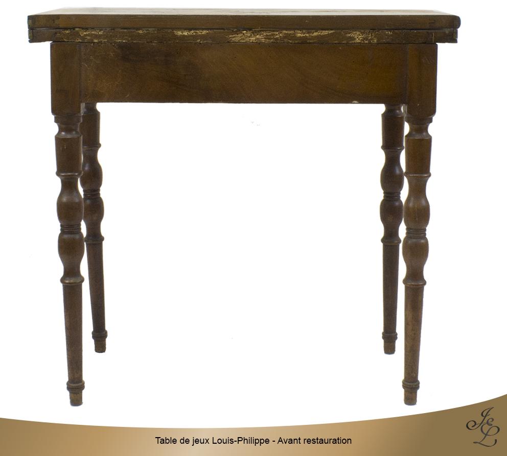 Table de jeux Louis-Philippe - Avant restauration