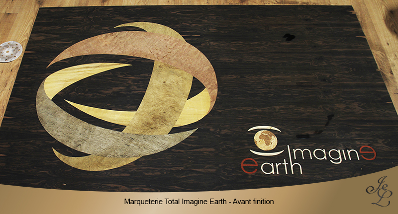 Marqueterie Total Imagine Earth - Avant finition