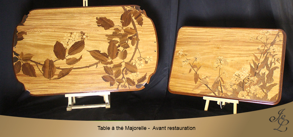 Table à thé Majorelle - Avant restauration