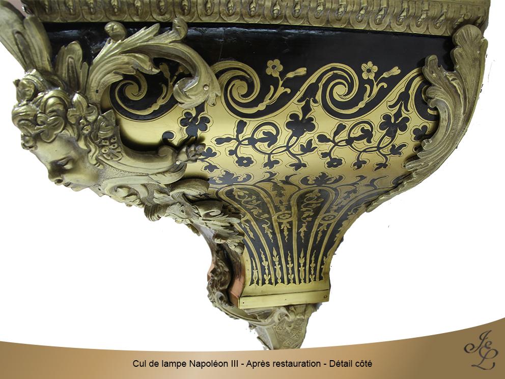Cul de lampe Napoléon III - Après restauration - Détail côté