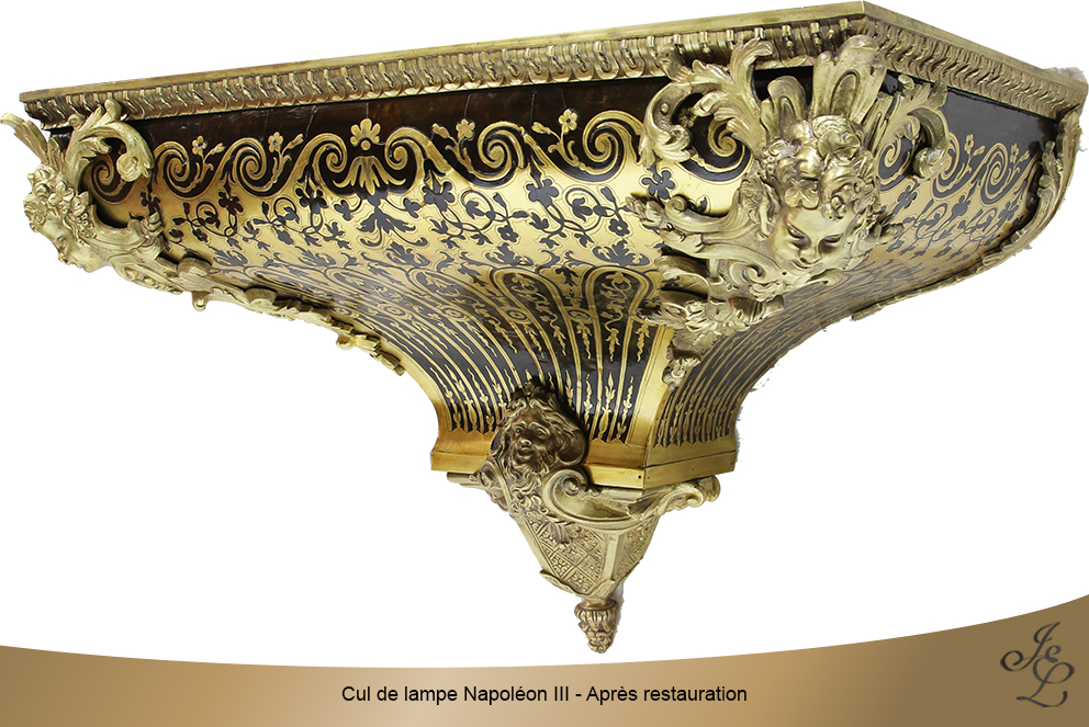 Cul de lampe Napoléon III - Après restauration