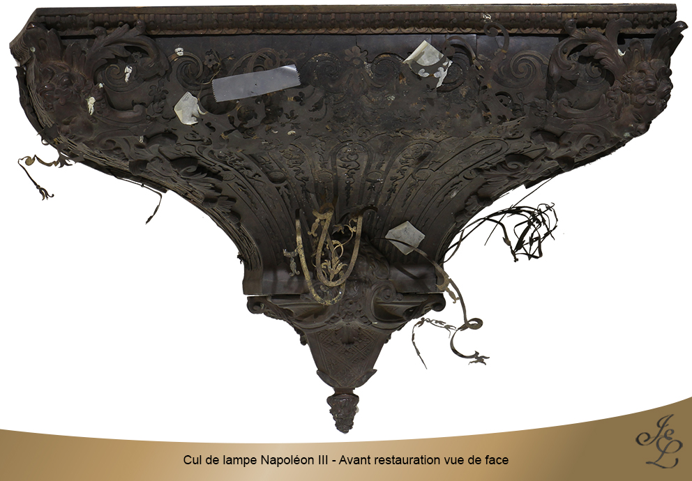 Cul de lampe Napoléon III - Avant Restauration vue de face
