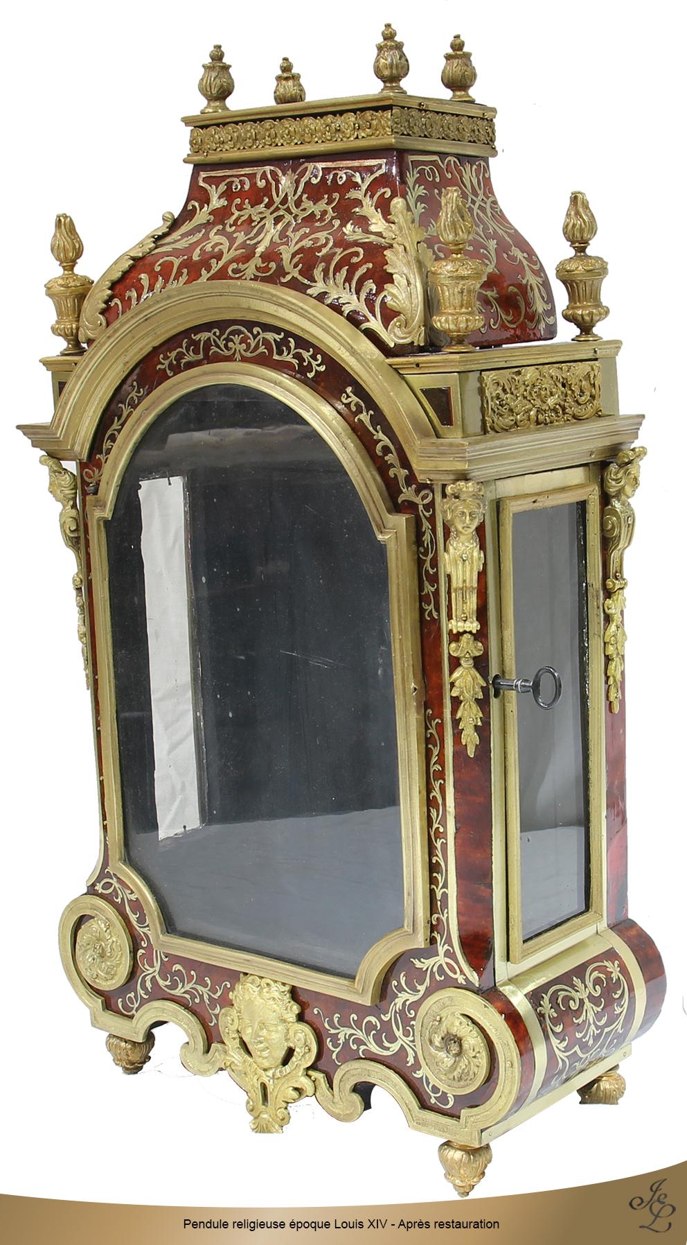 Pendule religieuse époque Louis XIV - Après restauration