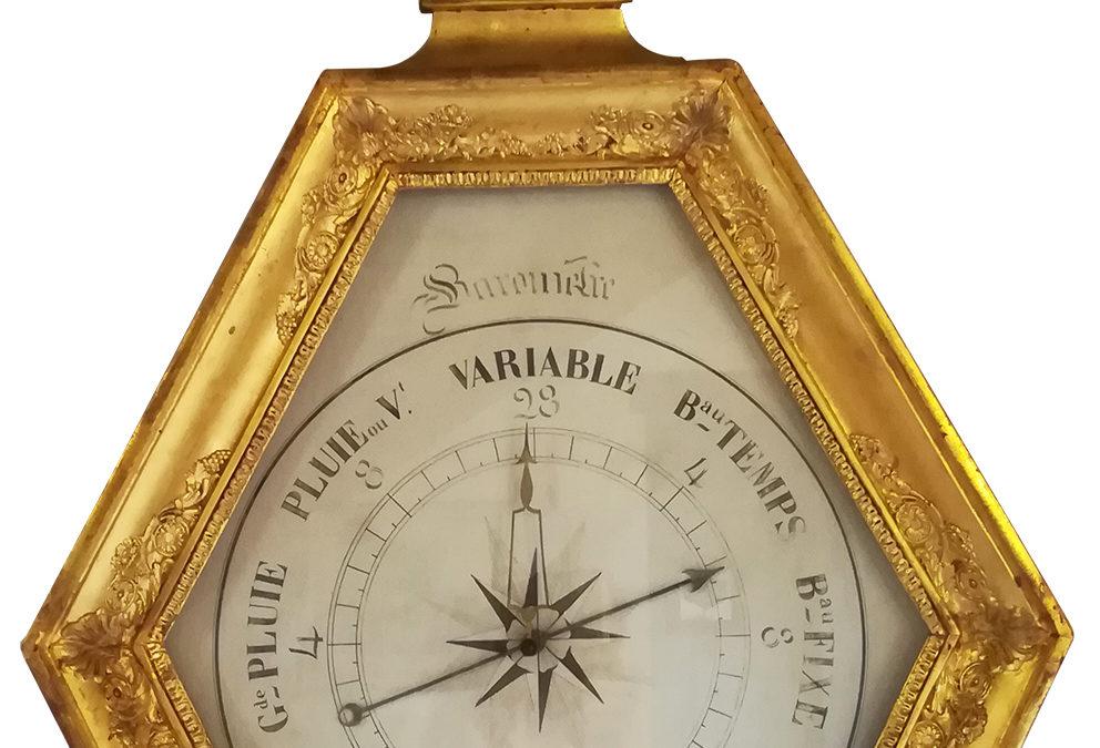 Baromètre-thermomètre époque Directoire