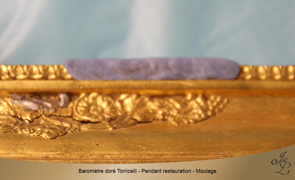 Baromètre doré Torricelli - Pendant restauration - Moulage